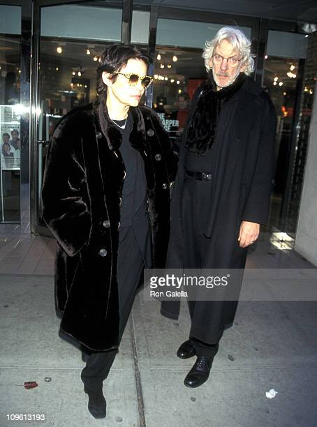 Donald Sutherland and Wife Francine Racette during Donald Sutherland and Wife Francine Racette Sighting in New York City December 8 1997 at Madison...