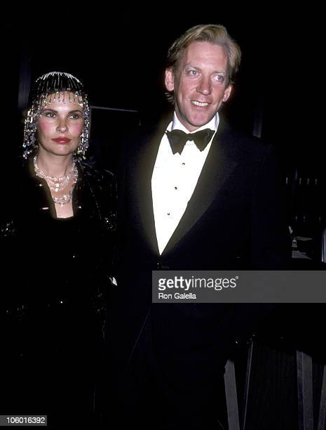 Donald Sutherland and Wife Francine Racette during Kennedy Center Honors Luncheon December 6 1980 at State Department Building in Washington DC...
