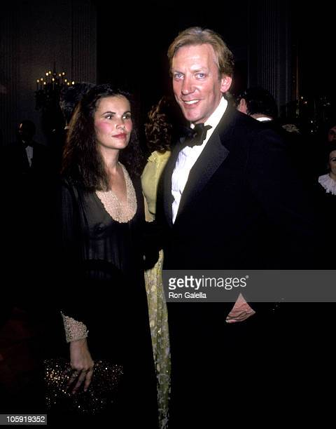 Donald Sutherland and Wife Francine Racette during Reception for The Kennedy Center Nominees at The White House December 7 1980 at The White House in...