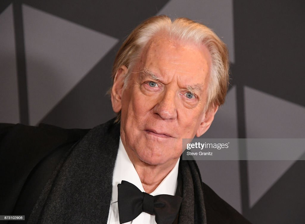 Donald Sutherland arrives at the Academy Of Motion Picture Arts And Sciences' 9th Annual Governors Awards at The Ray Dolby Ballroom at Hollywood & Highland Center on November 11, 2017 in Hollywood, California.