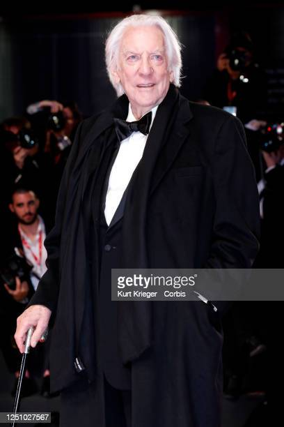 Donald Sutherland arrives at the premiere for 'The Burnt Orange Heresy' during the 76th Venice Film Festival on September 7 2019 in Venice Italy