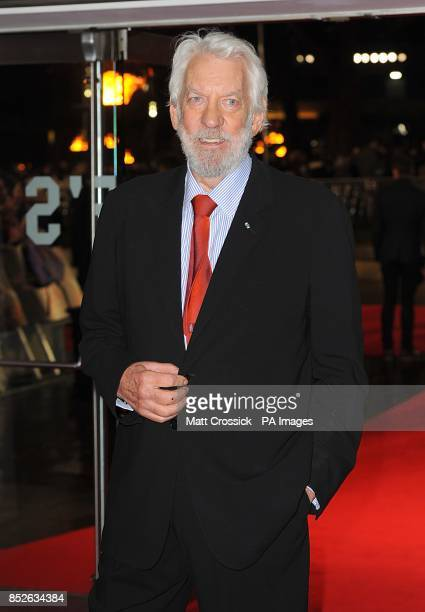 Donald Sutherland arriving for the World Premiere of The Hunger Games Catching Fire at the Odeon Leicester Square London