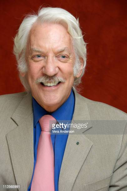 Donald Sutherland at the 'Fool's Gold' press conference at the Casa Del Mar Hotel on January 27 2008 in Santa Monica California
