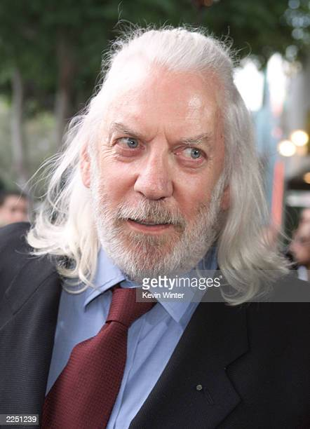Donald Sutherland at the premiere of 'Final Fantasy: The Spirits Within' at the Bruin Theater in Los Angeles, Ca. 7/2/01. Photo by Kevin Winter/Getty...