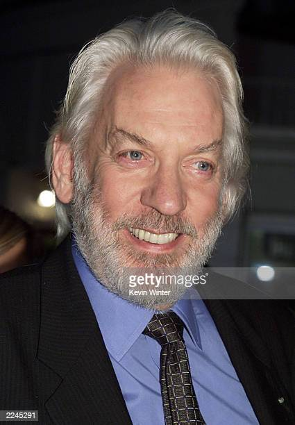 Donald Sutherland at the premiere of 'Space Cowboys' at the Village Theater in Westwood Ca on 8/1/00 Produced and directed by Clint Eastwood it opens...