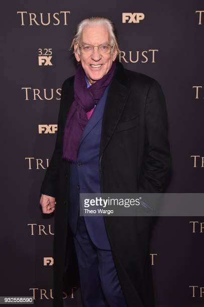 Donald Sutherland attends the 2018 FX Annual AllStar Party at SVA Theater on March 15 2018 in New York City