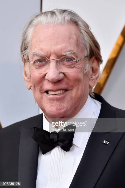 Donald Sutherland attends the 90th Annual Academy Awards at Hollywood Highland Center on March 4 2018 in Hollywood California