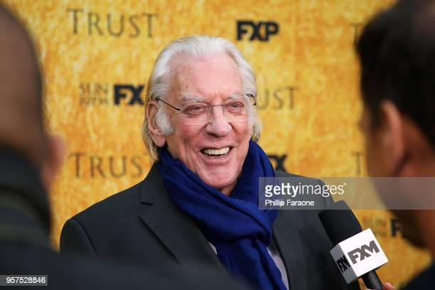 Donald Sutherland attends the For Your Consideration Event for FX's Trust at Saban Media Center on May 11 2018 in North Hollywood California