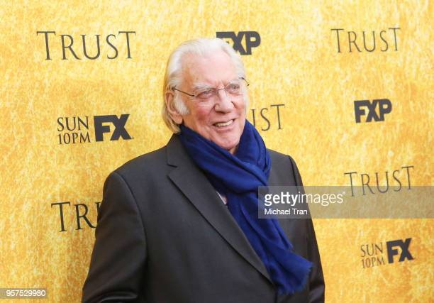Donald Sutherland attends the for your consideration event for FX's 'Trust' held at Saban Media Center on May 11 2018 in North Hollywood California