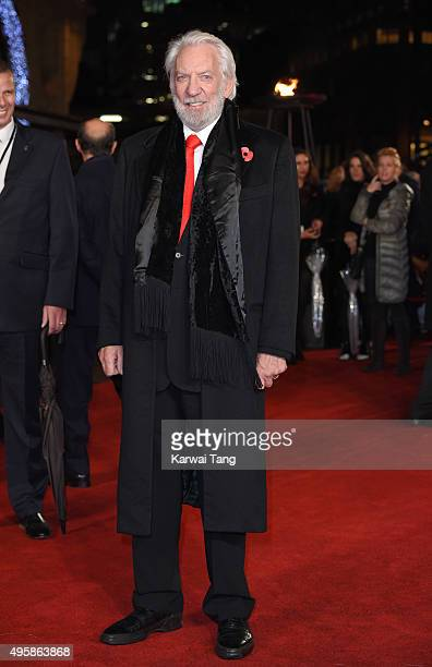 Donald Sutherland attends The Hunger Games: Mockingjay Part 2 - UK Premiere at Odeon Leicester Square on November 5, 2015 in London, England.