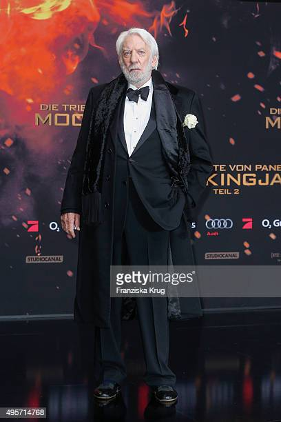 Donald Sutherland attends 'The Hunger Games Mockingjay Part 2' World Premiere on November 04 2015 in Berlin Germany