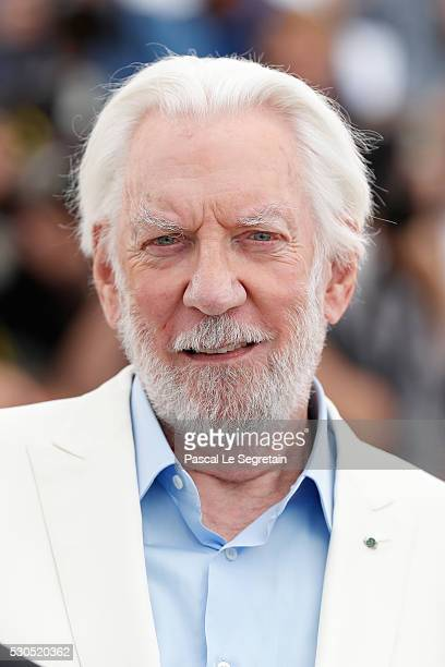 Donald Sutherland attends the Jury Photocall during the 69th Annual Cannes Film Festival at the Palais des Festivals on May 11 2016 in Cannes France