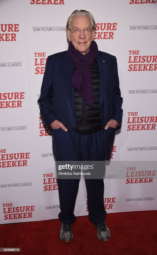 Donald Sutherland attends 'The Leisure Seeker' New York Screening at AMC Loews Lincoln Square on January 11, 2018 in New York City.
