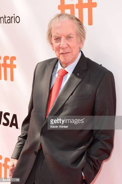 Donald Sutherland attends 'The Leisure Seeker' premiere during the 2017 Toronto International Film Festival at Roy Thomson Hall on September 9 2017...