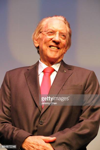Donald Sutherland attends The Leisure Seeker premiere during the 2017 Toronto International Film Festival at Roy Thomson Hall on September 9 2017 in...