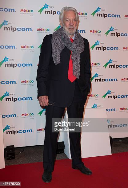 Donald Sutherland attends the opening red carpet party MIPCOM 2014 at Hotel Martinez on October 13, 2014 in Cannes, France.