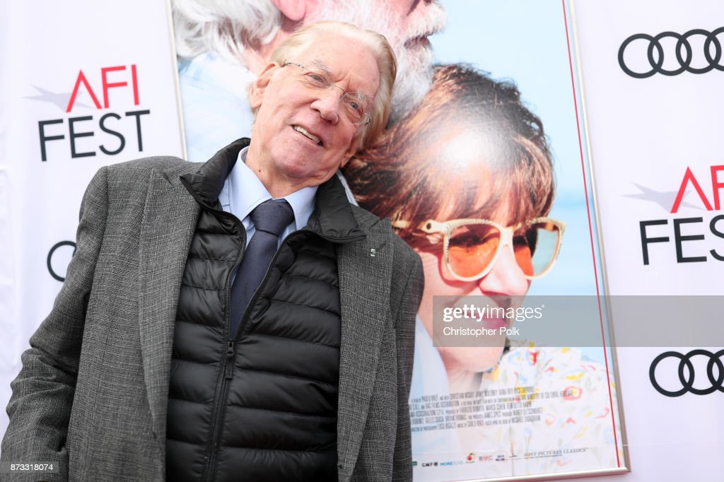 Donald Sutherland attends the screening of 'The Leisure Seeker' at AFI FEST 2017 Presented By Audi at the Egyptian Theatre on November 12, 2017 in Hollywood, California.