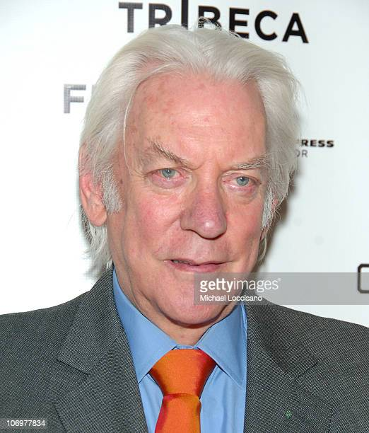 Donald Sutherland during 5th Annual Tribeca Film Festival 'Land Of The Blind' Premiere Inside Arrivals at Tribeca Grand Hotel in New York City New...