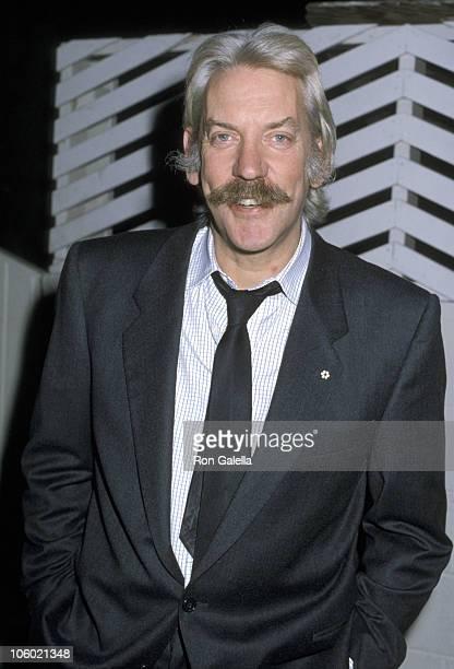 Donald Sutherland during Donald Sutherland sighting at Spago's New York City November 16 1986 at Spago in West Hollywood California United States