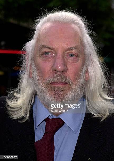 Donald Sutherland during Final Fantasy: The Spirits Within Premiere at Mann Bruin Theatre in Westwood, California, United States.