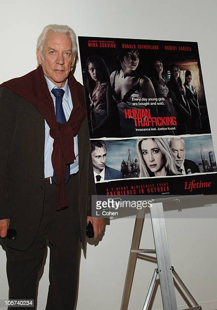 Donald Sutherland during Lifetime Original Miniseries 'Human Trafficking' Screening at The Museum of Television and Radio in Beverly Hills California...