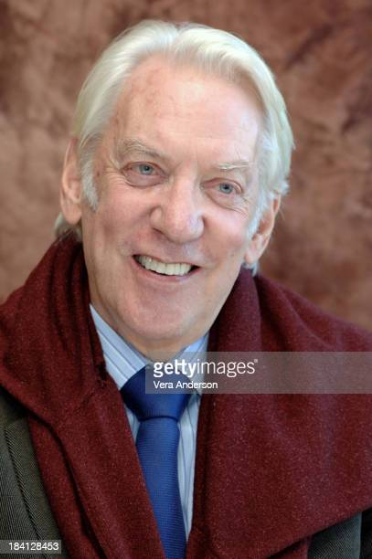 Donald Sutherland during Pride and Prejudice Press Conference with Donald Sutherland Rosamund Pyke Matthew McFadyen Brenda Blethyn and Joe Wright at...
