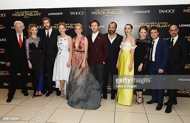 Donald Sutherland, Natalie Dormer, Liam Hemsworth, Jennifer Lawrence, Elizabeth Banks, Sam Claflin, Jeffrey Wright, Jena Malone, Julianne Moore, Josh...