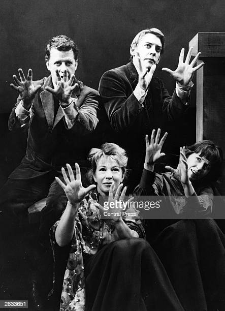 Donald Sutherland the Canadian actor with Bernard Braden Barbara Kelly bottom left and Betsy Blair in a scene from 'Spoon River' Original Publication...
