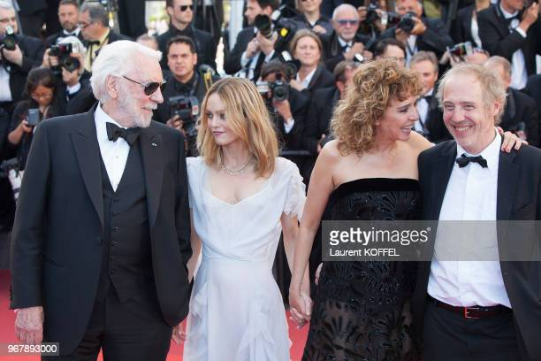 Donald Sutherland Vanessa Paradis Valeria Golino and Arnaud Desplechin attend 'The Last Face' Premiere during the 69th annual Cannes Film Festival at...
