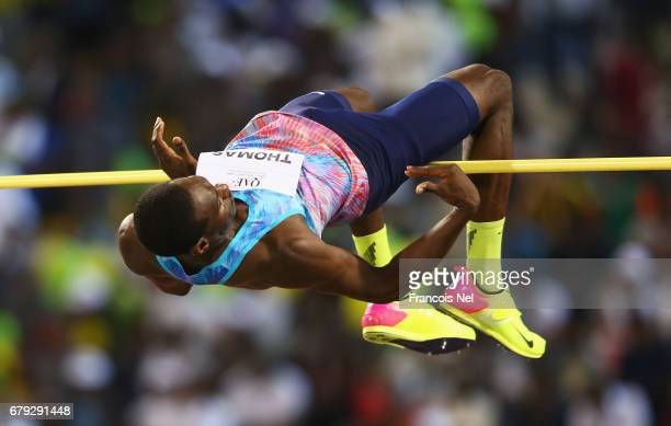 Donald Thomas of the Bahamas competes in the Men's High Jump during the Doha IAAF Diamond League 2017 at the Qatar Sports Club on May 5 2017 in Doha...