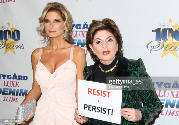 Donald Trump Accuser Summer Zervos and Lawyer Gloria Allred attend the 27th annual Night Of 100 Stars black tie dinner viewing gala at The Villa...