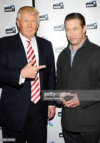 Donald Trump and actor Stephen Baldwin attend the 'AllStar Celebrity Apprentice' Red Carpet Event at Trump Tower on April 16 2013 in New York City