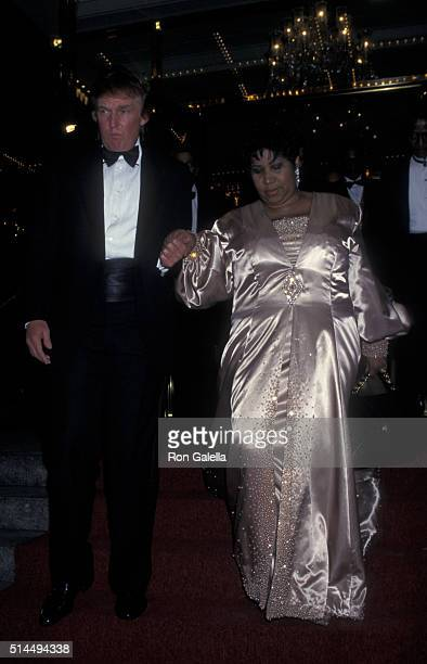 Donald Trump and Aretha Franklin attend Trump International Hotel and Tower Grand Opening on May 19 1997 in New York City