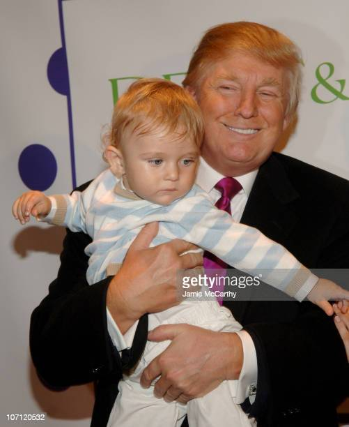 Donald Trump and baby Barron Trump during The Associates Committee of The Society of Memorial SloanKettering Cancer Center's 16th Annual Bunny Hop at...