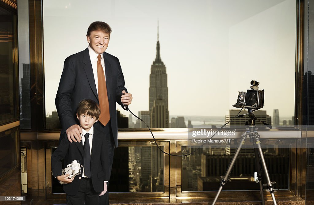 Melania, Donald, And Barron Trump At Home Shoot : News Photo