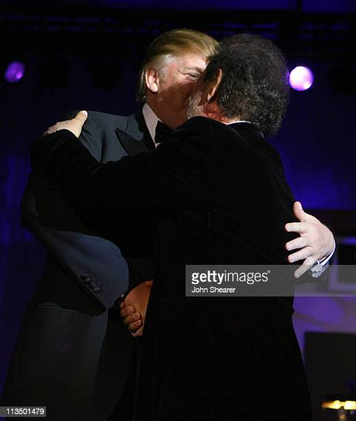 Donald Trump and Billy Crystal during Muhammad Ali's Celebrity Fight Night XIII Show at Marriot Desert Ridge Resort Spa in Phoenix Arizona United...
