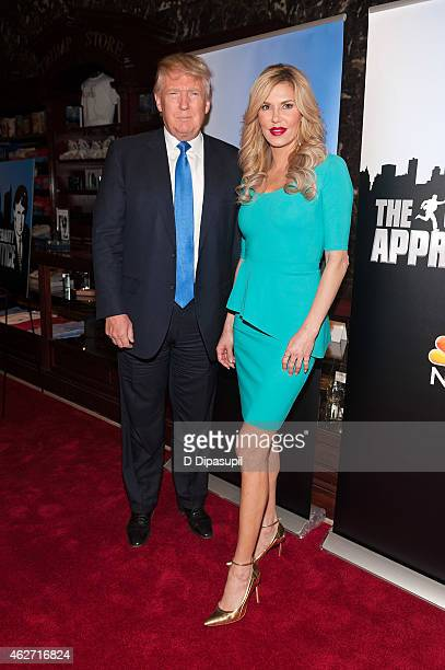 Donald Trump and Brandi Glanville attend the 'Celebrity Apprentice' Red Carpet Event at Trump Tower on February 3 2015 in New York City