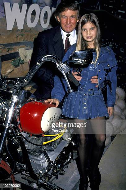 Donald Trump and Daughter Ivanka during Grand Opening of The Harley Davidson Cafe at Harley Davidson Cafe in New York City New York United States