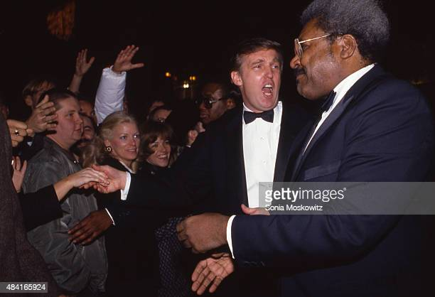 Donald Trump and Don King attend a Trump book party at the Trump Tower December 1987 in New York City.