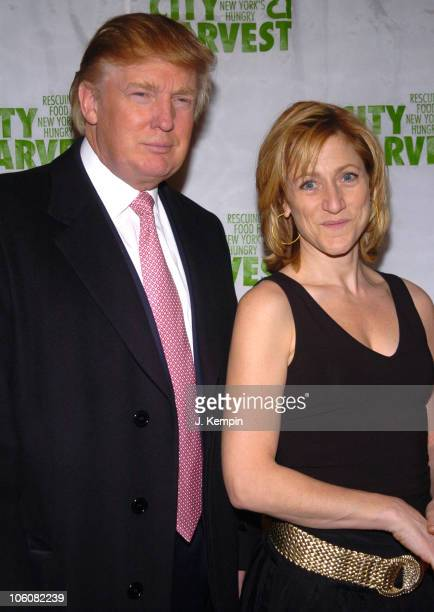 Donald Trump and Edie Falco during City Harvest Practical Magic Ball 2006 at Ciprianis 42nd Street in New York City New York United States
