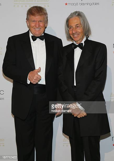 Donald Trump and ESE President Elio D'Anna attend European School Of Economics Foundation Vision And Reality Awards on December 5 2012 in New York...