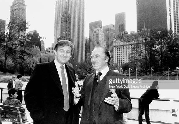 Donald Trump and father Fred Trump at opening of Wollman Rink