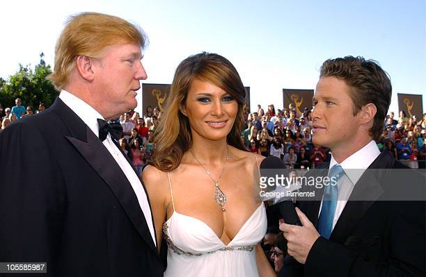 Donald Trump and fiancee Melania Knauss with Billy Bush
