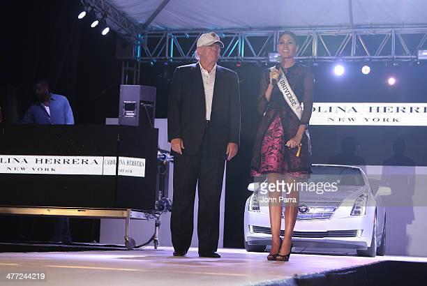 Donald Trump and Gabriela Isler attend the Carolina Herrera Fashion Show with GREY GOOSE Vodka at the Cadillac Championship at Trump National Doral...