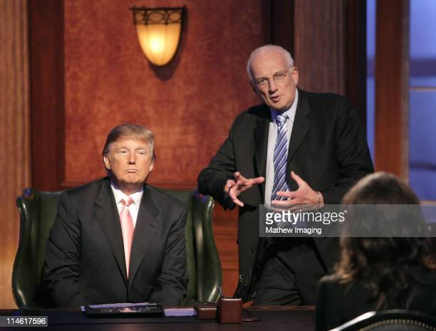 Donald Trump and George Ross during The Apprentice Season 6 Finale at The Hollywood Bowl at Hollywood Bowl in Hollywood California United States