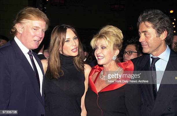 Donald Trump and girlfriend Melania Knauss are joined by Trump's former wife Ivana and her boyfriend Roffredo Gaetani at a party at Cipriani's on...
