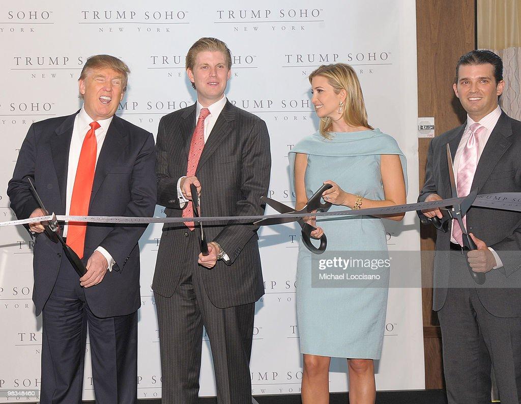 Trump SoHo New York Ribbon Cutting Ceremony : News Photo
