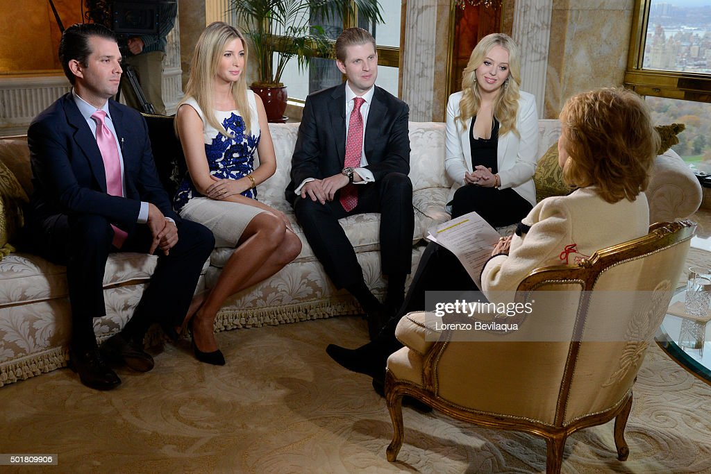 20/20 - Donald Trump and his family - including wife Melania Trump and his children - sit down for an interview with ABC News' Barbara Walters in a special edition of 20/20 airing Friday, Nov. 20 (10-11pm, ET) on the ABC Television Network. (Photo by Lorenzo Bevilaqua/ABC via Getty Images) DONALD