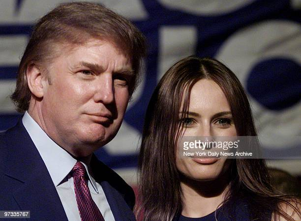 Donald Trump and his girlfriend model Melania Knaussvisiting a Miami museum dedicated to Cuban freedom fighters who died in the botched 1961 Bay of...