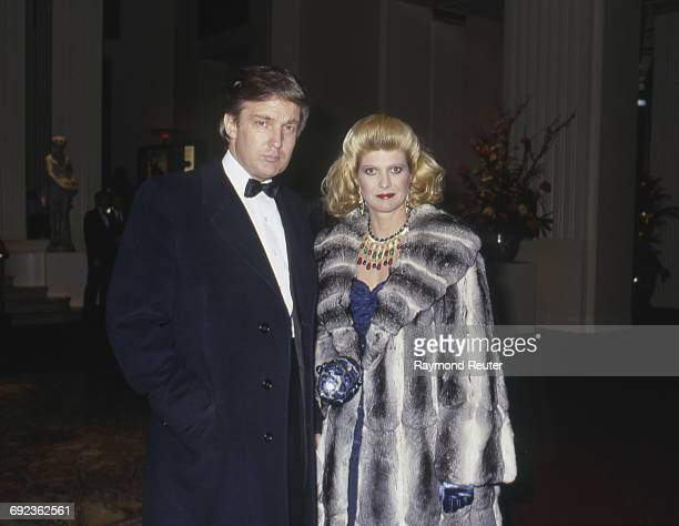 Donald Trump and his wife Ivana New York USA 8th February 1988